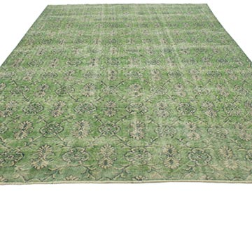 """Retro Vintage Turkish Hand-Knotted Rug - 6' 9"""" x 10'  (81 in. x 120 in.) - K0038396"""