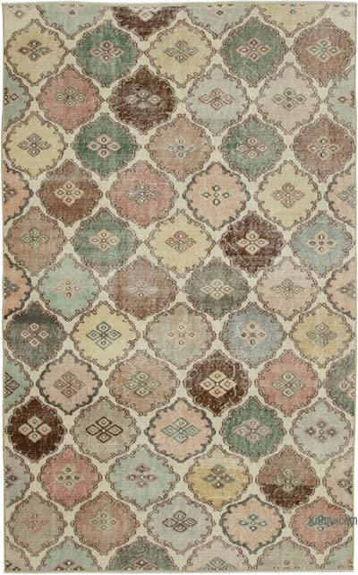 "Retro Vintage Area Rug - 5' 4"" x 8' 8"" (64 in. x 104 in.)"