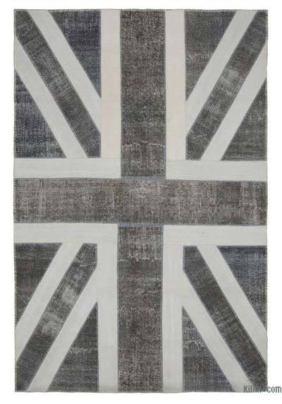"Patchwork British Flag Rug - 6' 7"" x 9' 11"" (79 in. x 119 in.)"