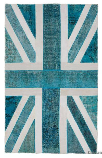 "Patchwork British Flag Rug - 6' 3"" x 9' 11"" (75 in. x 119 in.)"