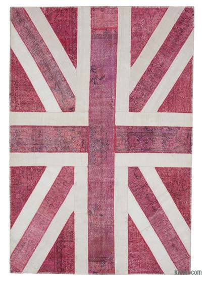 Patchwork Británica Flag Rug - 205 cm x 302 cm