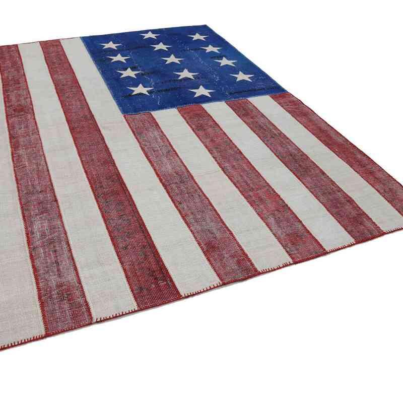 Multicolor Patchwork Estados unidos Flag Rug - 245 cm x 300 cm - K0038458