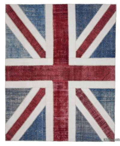 "Patchwork British Flag Rug - 8'1"" x 10'1"" (97 in. x 121 in.)"