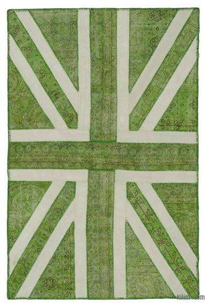 "Patchwork British Flag Rug - 4'7"" x 7'1"" (55 in. x 85 in.)"