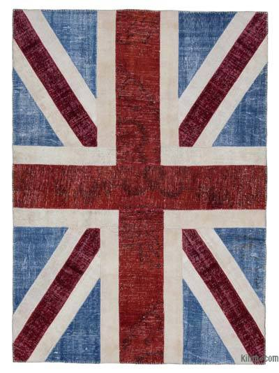 "Patchwork British Flag Rug - 5'8"" x 7'11"" (68 in. x 95 in.)"