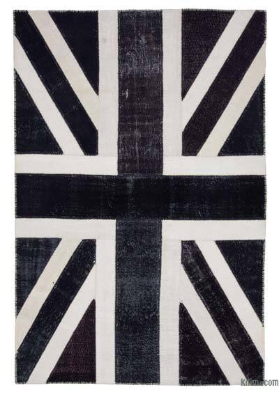 "Patchwork British Flag Rug - 6' 8"" x 10'  (80 in. x 120 in.)"
