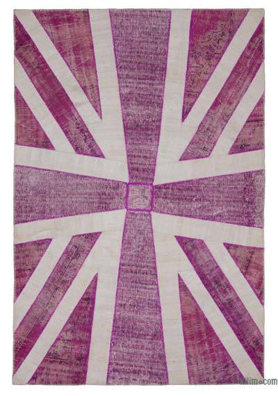 "Patchwork British Flag Rug - 6'8"" x 10' (80 in. x 120 in.)"