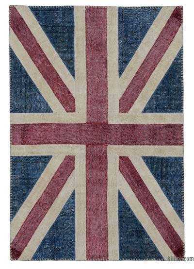 "Patchwork British Flag Rug - 4' x 5'11"" (48 in. x 71 in.)"