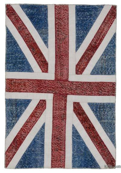 "Patchwork British Flag Rug - 4'1"" x 6' (49 in. x 72 in.)"