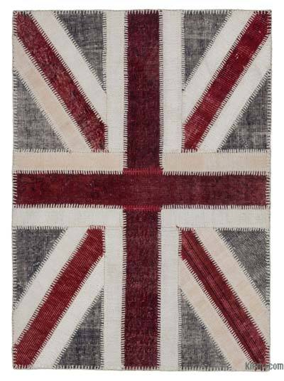 "Patchwork British Flag Rug - 3'6"" x 4'9"" (42 in. x 57 in.)"