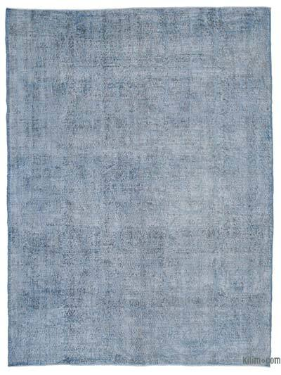 "Embroidered Over-dyed Turkish Vintage Rug - 7'3"" x 9'9"" (87 in. x 117 in.)"