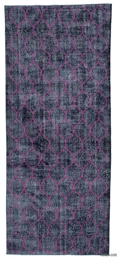 Alfombra Turca bordada sobre teñida vintage - 146 cm x 352 cm