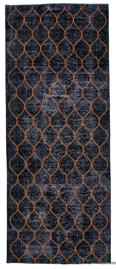 "Embroidered Over-dyed Turkish Vintage Runner - 4'9"" x 11'11"" (57 in. x 143 in.)"