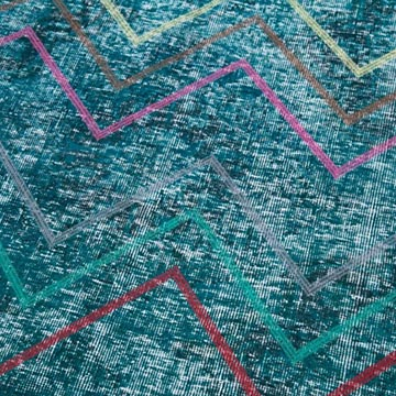 """Embroidered Over-dyed Turkish Vintage Runner - 4' 7"""" x 12' 1"""" (55 in. x 145 in.) - K0038639"""