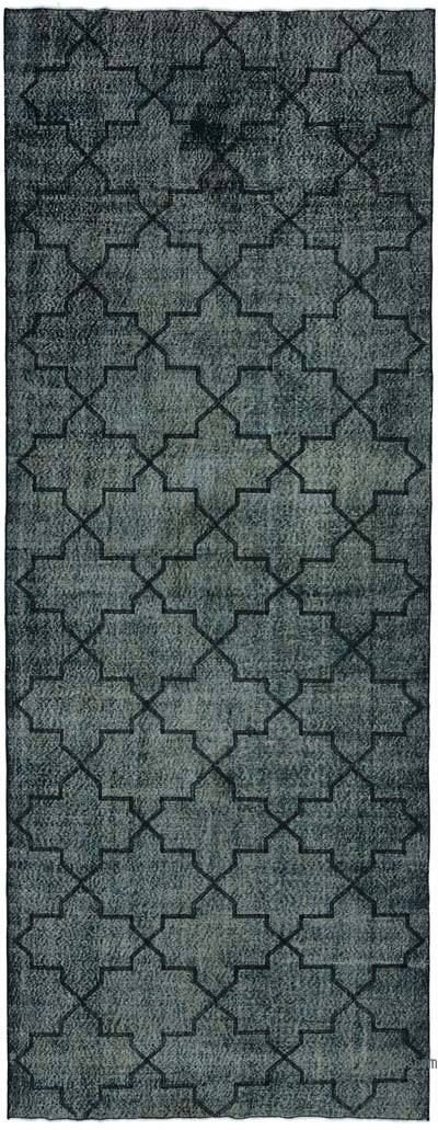 "Embroidered Over-dyed Turkish Vintage Runner - 4'8"" x 12' (56 in. x 144 in.)"