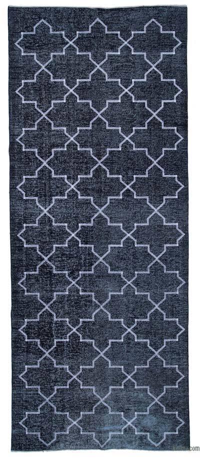 Alfombra Turca bordada sobre teñida vintage - 150 cm x 372 cm