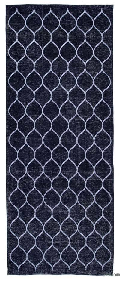"Embroidered Over-dyed Turkish Vintage Runner - 4'10"" x 12'2"" (58 in. x 146 in.)"