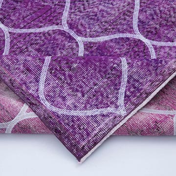 """Pink Embroidered Over-dyed Turkish Vintage Runner - 4'  x 11' 10"""" (48 in. x 142 in.) - K0038708"""