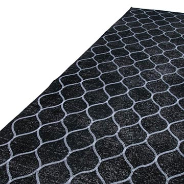 """Black Embroidered Over-dyed Turkish Vintage Runner - 4' 10"""" x 13' 3"""" (58 in. x 159 in.) - K0038709"""