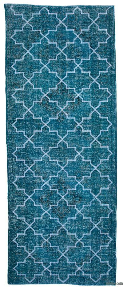 "Embroidered Over-dyed Turkish Vintage Runner - 5'  x 12' 7"" (60 in. x 151 in.)"