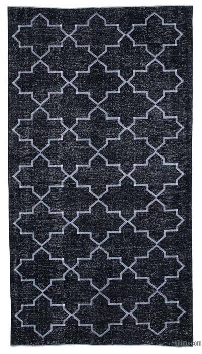 "Embroidered Over-dyed Turkish Vintage Runner - 5'3"" x 9'8"" (63 in. x 116 in.)"