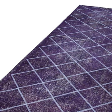 """Purple Embroidered Over-dyed Turkish Vintage Runner - 4' 8"""" x 12' 10"""" (56 in. x 154 in.) - K0038746"""