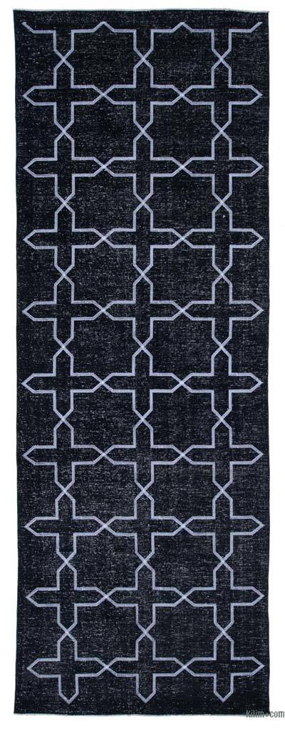 "Embroidered Over-dyed Turkish Vintage Runner - 4'9"" x 12'11"" (57 in. x 155 in.)"