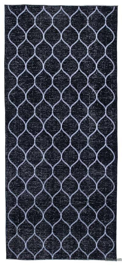 "Embroidered Over-dyed Turkish Vintage Runner - 5'  x 11' 3"" (60 in. x 135 in.)"