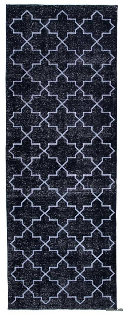 "Embroidered Over-dyed Turkish Vintage Runner - 4' 8"" x 13'  (56 in. x 156 in.)"