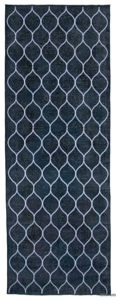 "Embroidered Over-dyed Turkish Vintage Runner - 4' 6"" x 9' 5"" (54 in. x 113 in.)"