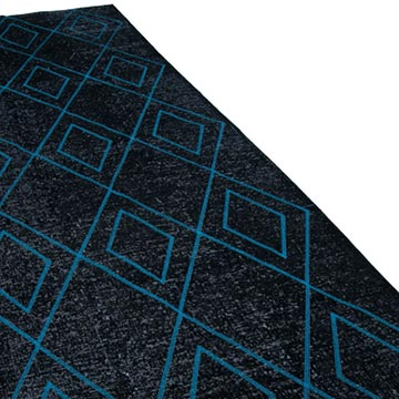 """Black Embroidered Over-dyed Turkish Vintage Runner - 4' 10"""" x 12' 6"""" (58 in. x 150 in.) - K0038764"""