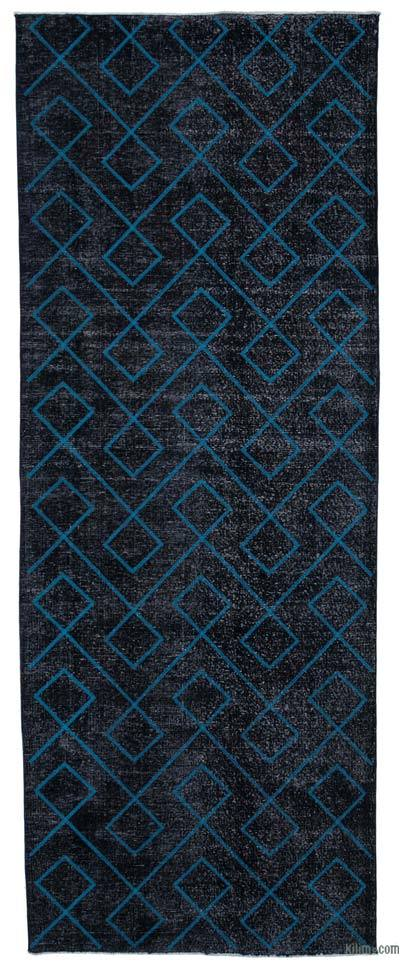 """Embroidered Over-dyed Turkish Vintage Runner - 4'11"""" x 13' (59 in. x 156 in.)"""