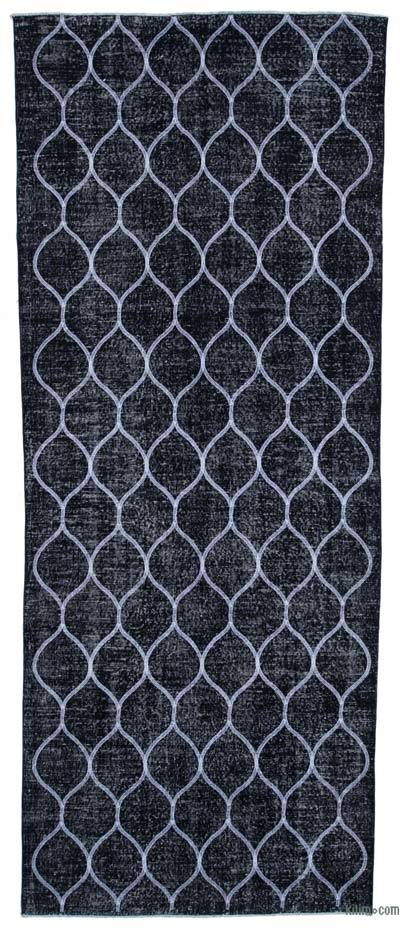 "Embroidered Over-dyed Turkish Vintage Runner - 4' 8"" x 11' 9"" (56 in. x 141 in.)"