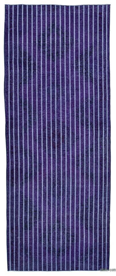 Alfombra Turca bordada sobre teñida vintage - 146 cm x 372 cm