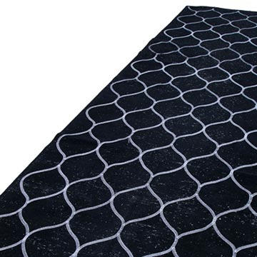 """Black Embroidered Over-dyed Turkish Vintage Runner - 4' 8"""" x 12' 8"""" (56 in. x 152 in.) - K0038803"""