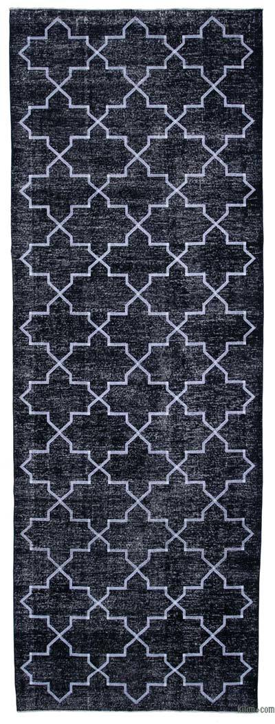 "Embroidered Over-dyed Turkish Vintage Runner - 4'9"" x 13'3"" (57 in. x 159 in.)"