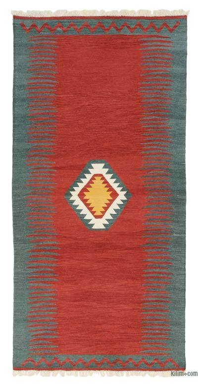 "New Handwoven Turkish Kilim Rug - 4'  x 8' 1"" (48 in. x 97 in.)"