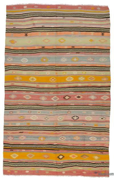 """Vintage Manisa Kilim Rug - 6' 4"""" x 10' 3"""" (76 in. x 123 in.)"""