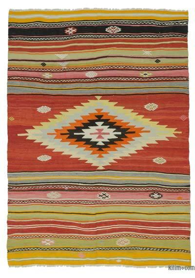 Vintage Manisa Kilim Rug