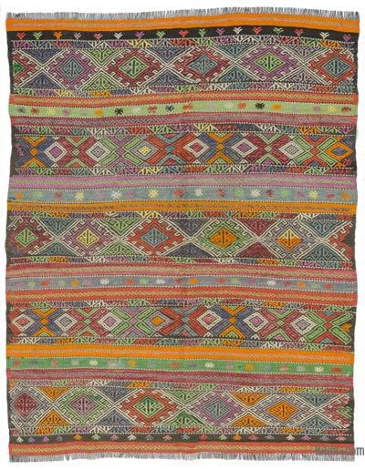 Vintage Balikesir Kilim Rug