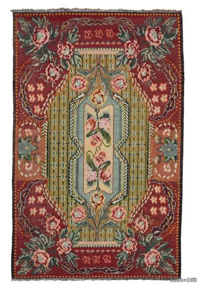Vintage Moldova Kilimi - 185 cm x 295 cm