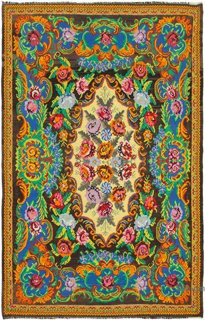 Vintage Moldova Kilimi - 224 cm x 345 cm