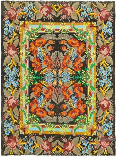 Çok Renkli Vintage Moldova Kilimi - 212 cm x 282 cm