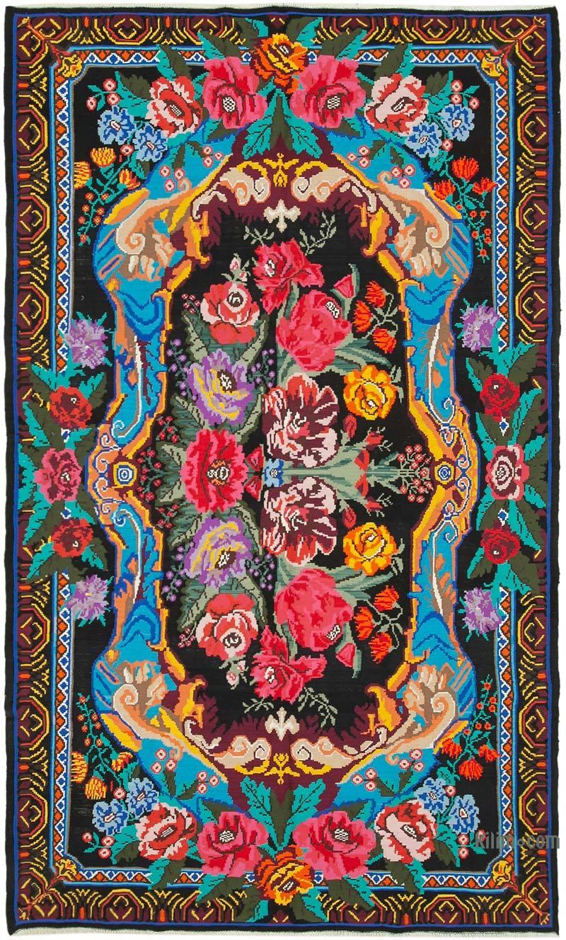 Çok Renkli Vintage Moldova Kilimi - 238 cm x 395 cm - K0038945