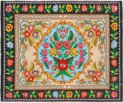 Vintage Moldova Kilimi - 196 cm x 243 cm