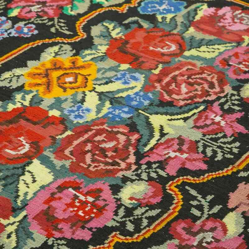 Çok Renkli Vintage Moldova Kilimi - 213 cm x 315 cm - K0038948