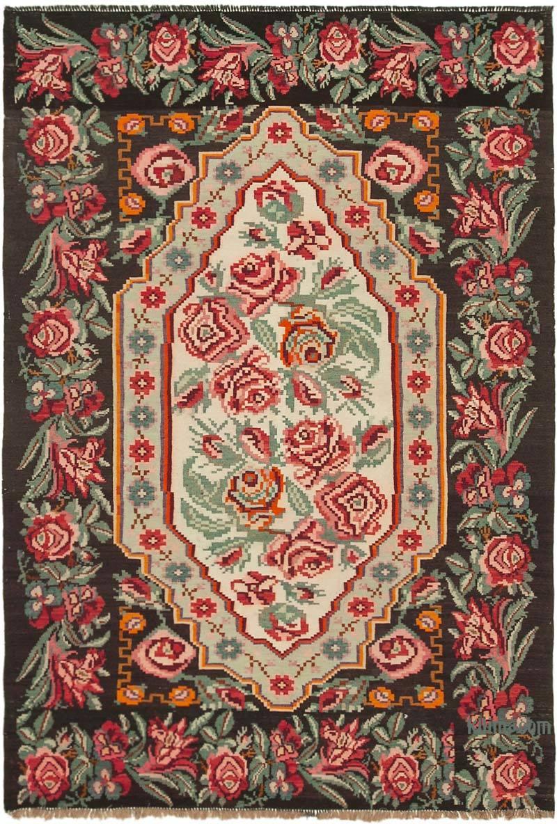 Multicolor Alfombra Vintage Moldovan Kilim - 183 cm x 274 cm - K0038952