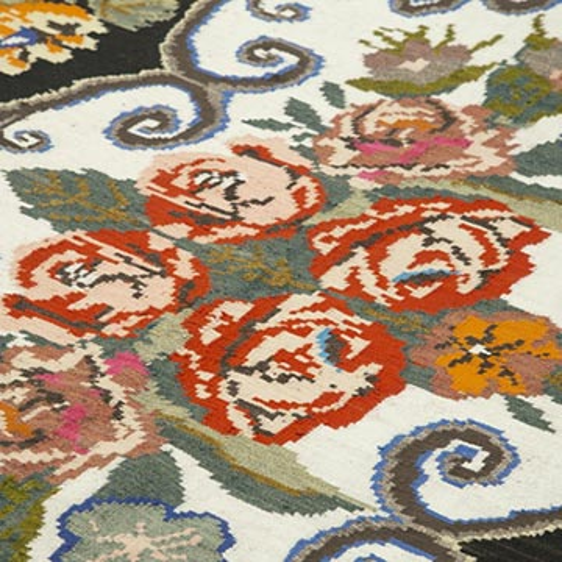Çok Renkli Vintage Moldova Kilimi - 205 cm x 292 cm - K0038960