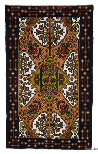 "Vintage Handwoven Moldovan Kilim Area Rug - 6'3"" x 10'5"" (75 in. x 125 in.)"