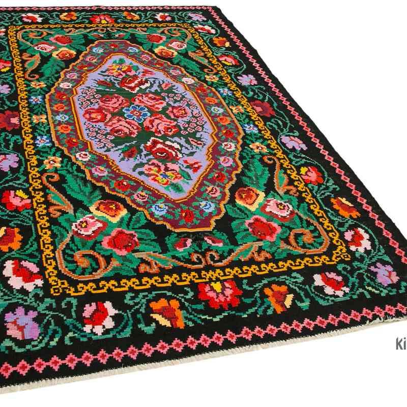 Çok Renkli Vintage Moldova Kilimi - 151 cm x 246 cm - K0038979